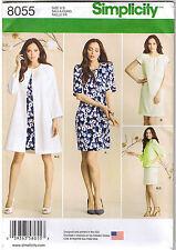 Raglan Sleeve Dress Collarless Jacket Coat Sewing Pattern Plus 16 18 20 22 24