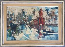 "RARE, ROBERT LEBRON ""NEW YORK CITY SCAPE"" ORIGINAL PALETTE KNIFE OIL PAINTING"