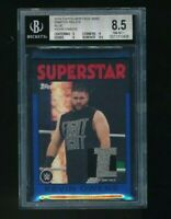 2016 Topps Heritage WWE Relic Blue 2 Color Kevin Owens BGS 8.5 /25