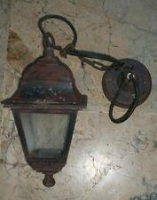 Antico lampione ferro battuto stile Old Ottocento x esterno rustico agriturismo