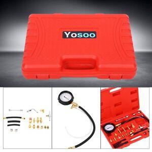 Auto Benzin Druckprüfer Drucktester Druckmesser Einspritzanlage 0-145PSI Satz