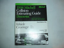 1998 Mitchell Ford Lincoln Mercury Collision Estimating Manual Guide Mustang '98