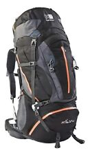 KARRIMOR JAGUAR 75L - 95L HIKING / TRAVEL BACKPACK RUCKSACK - BLACK /CINDER