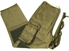 WWII US AIRBORNE PARATROOPER M42 REINFORCED JUMP TROUSERS-LARGE