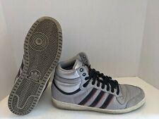Adidas Top Ten High Top Sneakers US Mens Size 11 Gray Faux Ostrich G12136