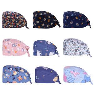Head Cover Cotton Bouffant Surgical Scrub Cap Doctor Nurse Surgery Medical Hats