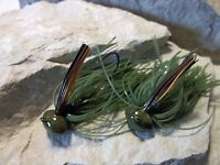 TWO 2 LIGHTNING BUG CHARTREUSE SHAD * 1//2 OUNCE POISON TAIL