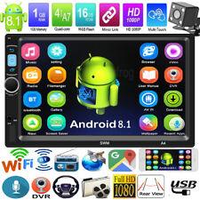 2Din 7in Android 8.1 Quad Core GPS Navi WiFi Voiture Stéréo MP5 Radio Joueur Cam