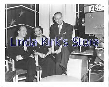 """Ilka Chase & 2 men with ABC Camera Promotional Photograph """"Celebrity Time"""""""