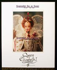 Queen Elizabeth I Barbie Doll Women of Royalty Series Gold Label ~ MNRFB EXC