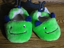 Boy's Slip-on Monster Slippers sz: 3 Toddler NEW WITH TAGS