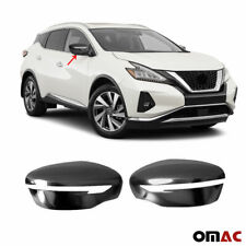 Fits Nissan Murano 2015-2020 Dark Chrome Side Mirror Cover Cap 2 Pcs