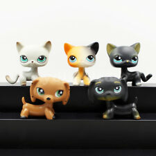 5X littlest pet shop rare lps toys cats and dogs LPS short hair Cat DACHSHUND