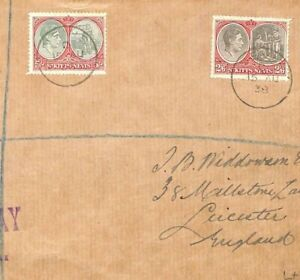 ST KITTS &  NEVIS First Day Cover GB Leicester KGVI FDC 1938 {samwells}MS2935