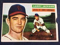 E4-3 BASEBALL CARD - LARRY JACKSON ST LOUIS CARDINALS - 1956 TOPPS - CARD #119