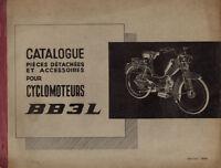 Catalogue de pieces détachées PEUGEOT BB3L 3 L mobylette 1964