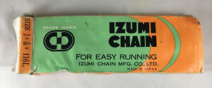 "Izumi Bike Chain 1/2"" x 3/32"" 116L 7.8mm Black 5/6 Speed Vintage Touring Bicycle"