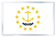 RHODE ISLAND USA FLAG FRIDGE MAGNET SOUVENIR IMAN NEVERA