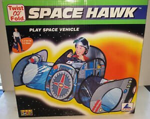 NIB 1999 Playhut Space Hawk Play Space Vehicle Twist N Fold Pop Up Setup