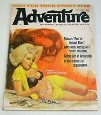 Adventure Magazine For Men vol. 143 #1 october 1966 mussolini's girls - pinups