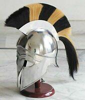 Medieval Knight Spartan Greek Corinthian Armor Helmet With Plume Armour