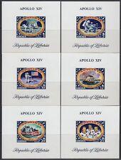 Liberia 1971 ** Mi.777/82 de Luxe M/S Weltraum Space Espace Apollo 14