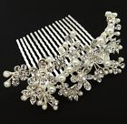 beautiful elegant wedding bridal hair comb pearl and crystal #222
