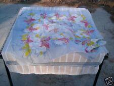 Beautiful Grey Scarf Pink Butterflies White Flowers