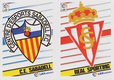 N°10 BADGE ESCUDO # CE SABADELL.FC / REAL SPORTING STICKER PANINI LIGA 2014