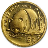 1987-S China 1/20 oz Gold Panda BU (Sealed) - SKU #13409