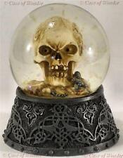 "SKULL WATERGLOBE ""KEEPER"" Gothic/Occult/Horror NEMESIS NOW"