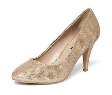 Dorothy Perkins Gold Claudia Workwear Courts UK 6 EU 39 LN08 25