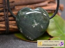 Markenlose Echtschmuck-Halsketten & -Anhänger mit Herz-Achat