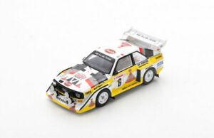 Spark Model 1:43 S5191 Audi Sport Quattro S1E2 #6 3rd Rally Monte-Carlo 1986 NEW