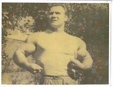 bodybuilder JOHN GRIMEK with Baseball Size Biceps Muscle Photo B&W