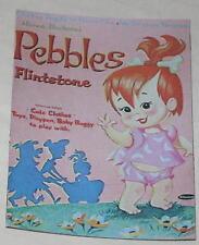"Pebbles Flintstone Paper Dolls Floppy Magnet Approx 2"" x 3"""