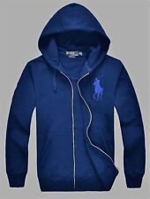 New NWT Mens Ralph Lauren Polo Big Pony Hoody Hooded Fleece Jacket Large