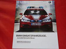 BMW 3er 5er X1 X3 X5 Polizei Feuerwehr Notarzt Security Prospekt von 2013