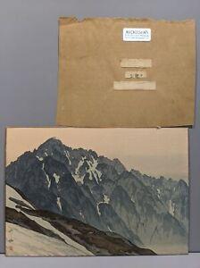 Yoshida Japanese Woodblock Print Mt Fuji