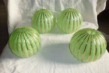 1 globe boule ancien opaline verte et dorure verre clichy Art déco