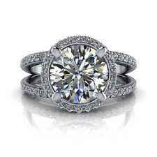 2.95 Ct Diamond Engagement Wedding Ring Real 14k White Gold Size L M N O P Q R K