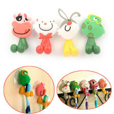 5pcs/lot Cartoon Sucker Toothbrush Holder Suction Hooks Bathroom Accessories DS#