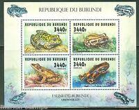 BURUNDI   2015   FAUNA OF BURUNDI  FROGS   SHEET  OF FOUR   MINT  NH