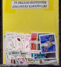 B-D-M Mix Colonias Españolas Lote 75 Sellos Diferentes Nuevos