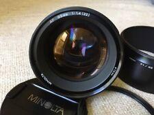 Minolta AF 85mm f/1.4 AF Lens with caps. hood and filter Pristine, SONY A mount