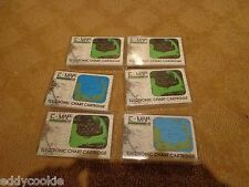C MAP / C-MAP ELECTRONIC CHART - SIX (6) EMPTY PLASTIC CASES / BOXES