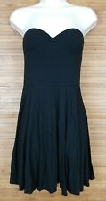 Victorias Secret Mini A Line Dress Built in Underwire Bra Black sz 32C Fit Flare