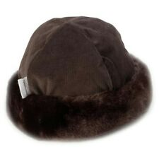 Childrens hats, Minimink faux fur, chocolate brown, 2 - 4 years old, brand new
