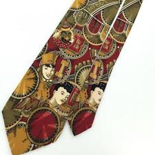 DAVID LAWRENCE MADE IN ITALY Circus Clown Men Short Necktie Ties Tie