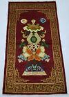 Antique Handmade Chinese Fishes Tibetan Art Deco Wool Oriental Rug Carpet 159x90